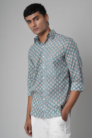 Daisy Shirt- Light Blue