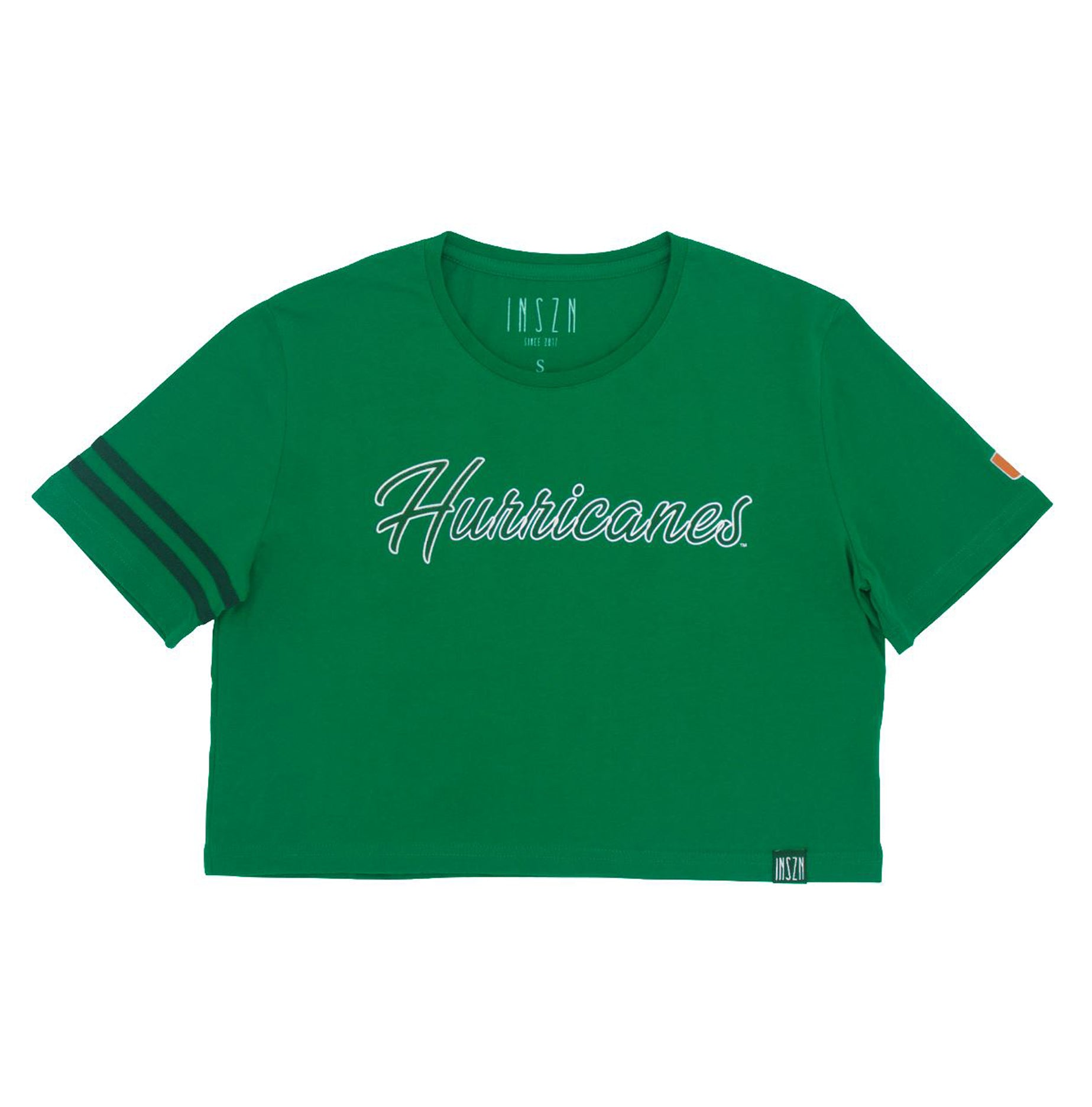 Green Hurricanes Crop Tee