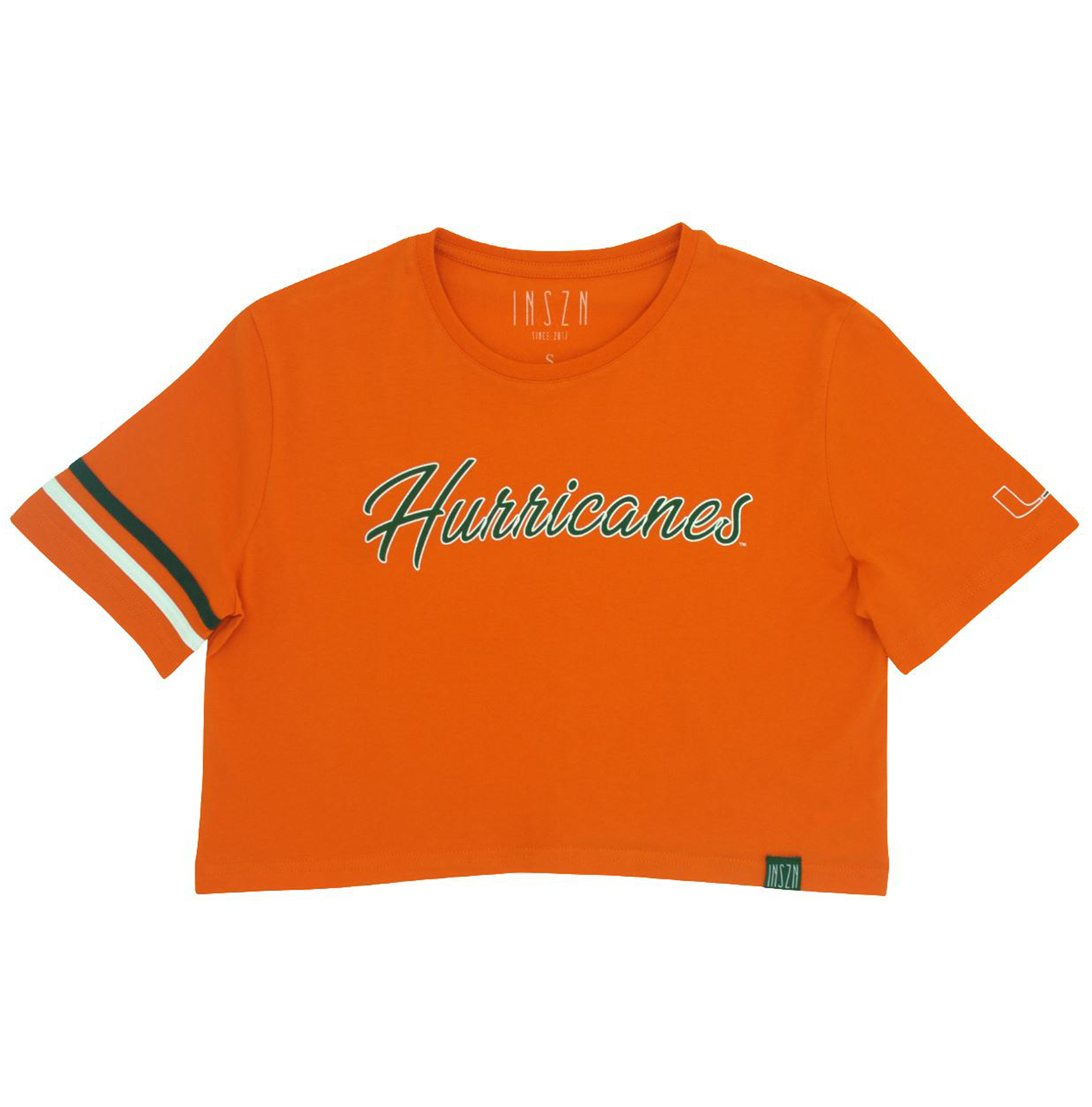 Orange Hurricanes Crop Tee