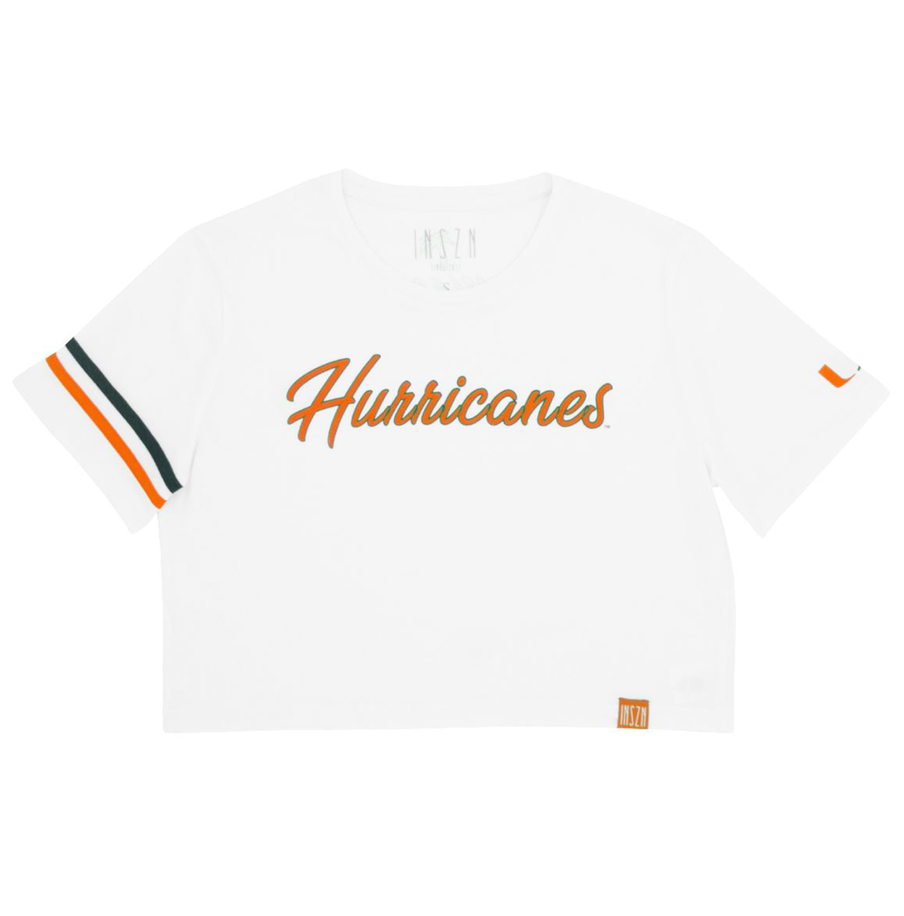 White Hurricanes Crop Tee