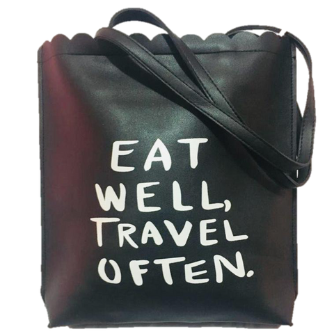 "Bolsa / Bag ""Eat well Travel often"""