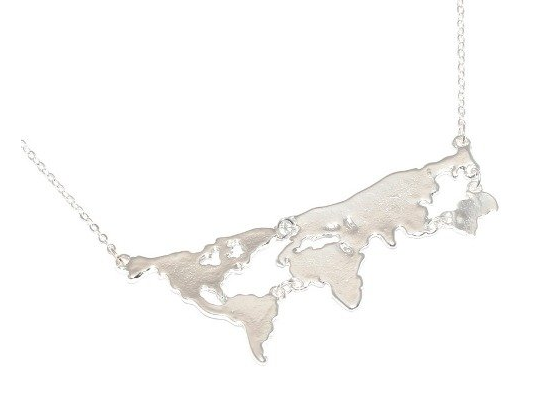 Colar / Necklace Mapa Mundi