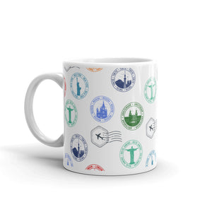 "Caneca Mug ""Colorful stamps"""