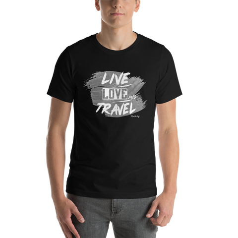 "Camisa T-shirt ""Live Love and Travel"""
