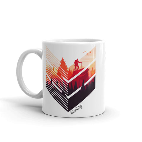 "Caneca Mug ""Backpacker in the sunset"""