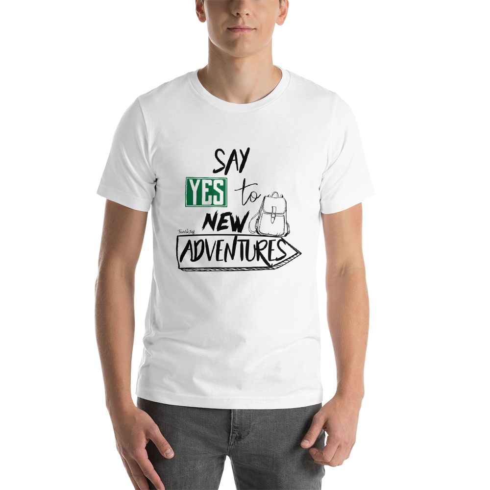 "Camisa T-shirt ""Say YES to new adventures"""