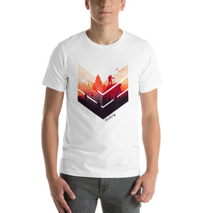 "Camisa T-shirt ""Backpacker in the sunset"""