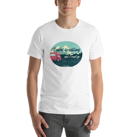 "Camisa T-shirt ""Travel is calling"""