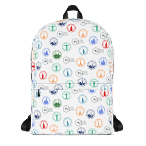 "Mochila Backpack ""Colorful Stamps"""