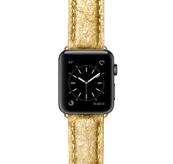 Apple Watch Armband Wrinkeld Gold
