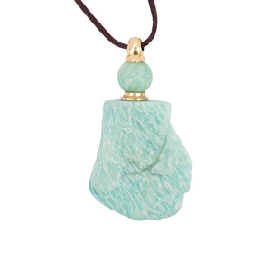 Amazontie Natural Stone Vial Necklace