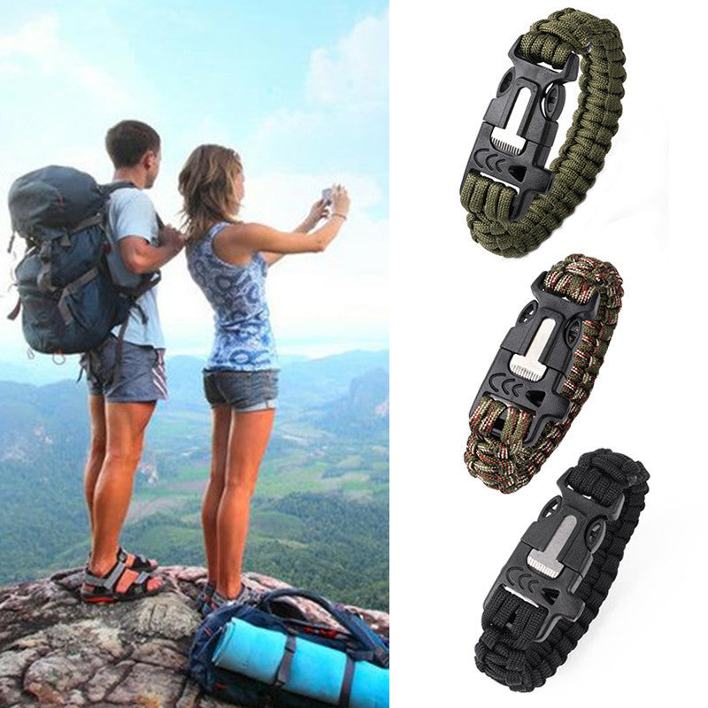 Paracord Bracelet Outdoor Survival Gear Kit