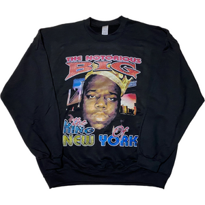 "THE NOTORIOUS B.I.G ""King Of NewYork"" Crew Neck Sweat -BLACK-"