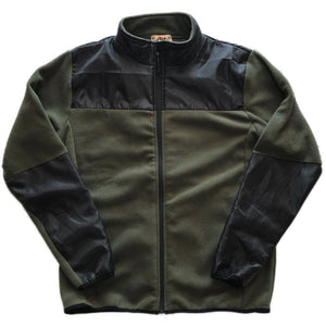 NO BRAND Fleece Zip Up Jacket -OLIVE-