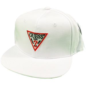 "GUESS ""TRIANGLE"" Snapback Cap -WHITE-"
