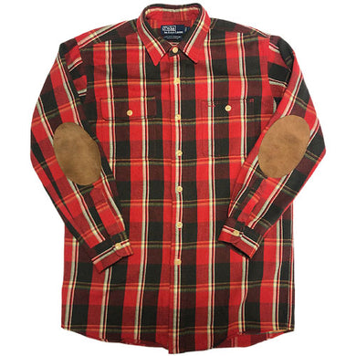 POLO RALPH LAUREN L/S Check Shirt -RED-