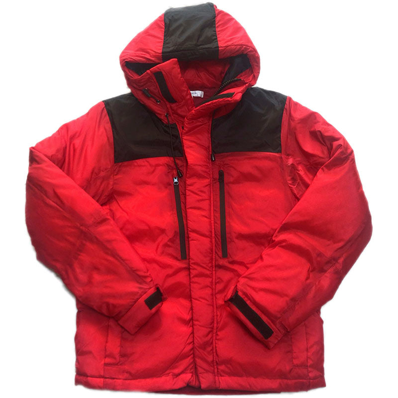 NO BRAND Hooded  Down Jacket -RED-