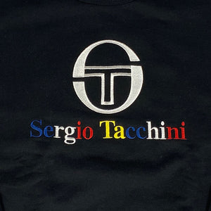 """SERGIO TACCHINI"" Crew Neck Sweat -BLACK-"