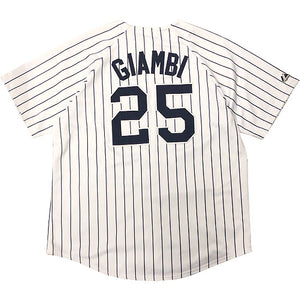 "Majestic""NEW YORK YANKEES""Baseball Jersey-WHITE-"