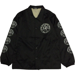 "TIGHT BRIDGE""Entry Stamp Logo""Coach Jacket-BLACK-"