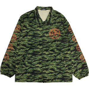 "TIGHT BRIDGE""Entry Stamp Logo""Coach Jacket-TIGER CAMO-"
