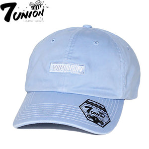 "7UNION""BOX GARMENT DYE""Bent Brim Cap-BLUE-"