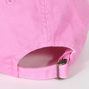 "7UNION""BOX GARMENT DYE""Bent Brim Cap-PINK-"