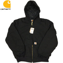 画像をギャラリービューアに読み込む, Carhartt Duck Active Jacket / Quilted Flannel Lined -BLACK-