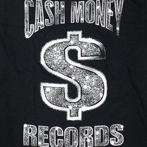 "Cash Money Records""CM Black Bling""T-Shirt-BLACK-"