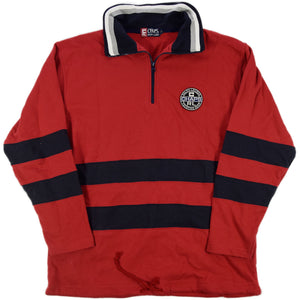 """CHAPS RALPH LAUREN"" Half Zip Sweat -RED-"