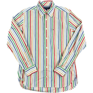 """TOMMY HILFIGER"" Striped L/S Shirt -MULTI-"