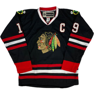 "Reebok ""Chicago Blackhawks"" Hockey Jersey -BLACK- (DEAD STOCK)"