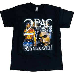 """2Pac Makaveli"" Vintage Style T-Shirt -BLACK-"