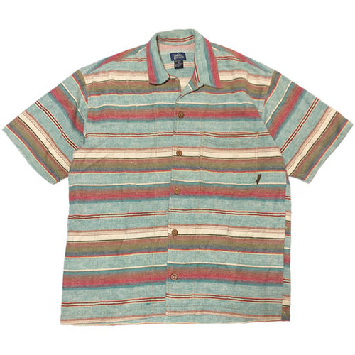 Border Pattern S/S Shirt -MULTI-