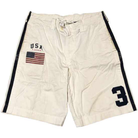 POLO RALPH LAUREN Short Pants -WHITE-