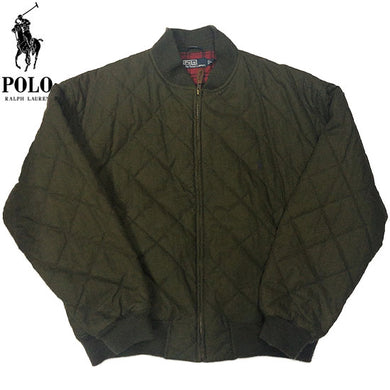 POLO RALPH LAUREN Quilting Cotton Jacket-OLIVE-