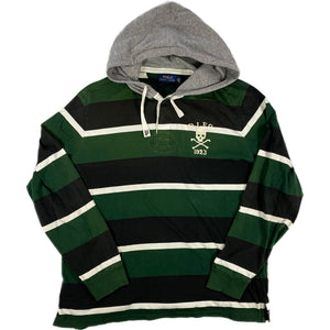 """POLO RALPH LAUREN"" Hooded Rugger Shirt -GREEN-"