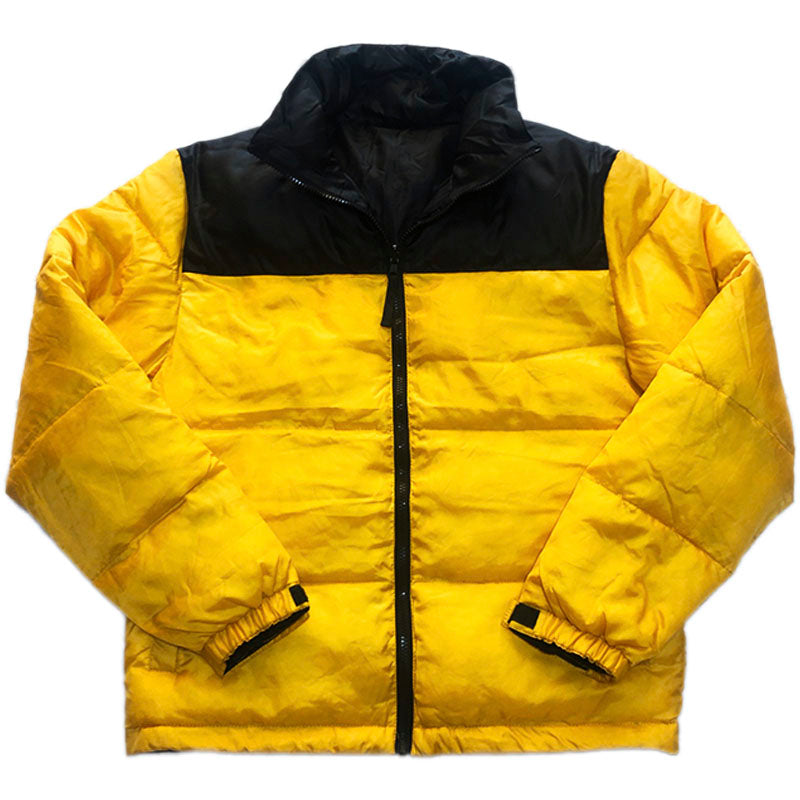 NO BRAND Reversible Down Jacket-YELLOW×BLACK-