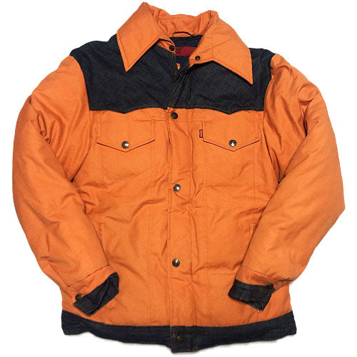 Levi's Down Jacket -ORANGE×DENIM-
