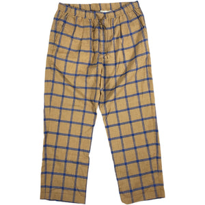 """NO BRAND"" Easy Check Pants -BEIGE-"