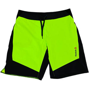 """Reebok"" Swim Shorts -YELLOW GREEN×BLACK-"