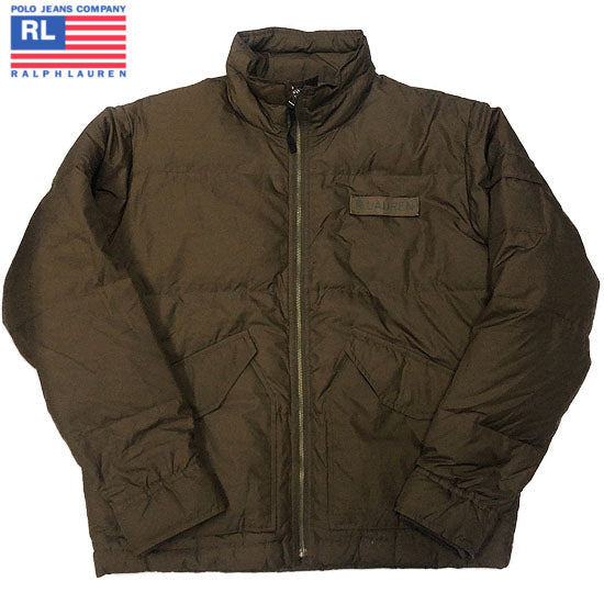 POLO JEANS RALPH LAUREN Military Down Jacket-BROWN-
