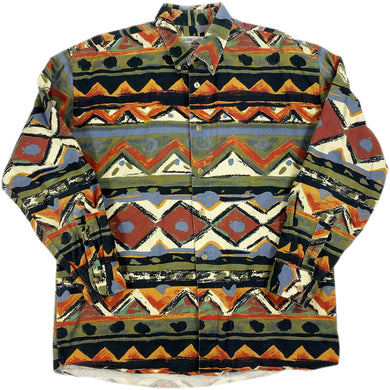 Whole Pattern L/S Shirt -GREEN-