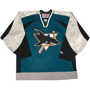 "NHL ""San Jose Sharks"" Hockey Jersey-GREEN-"