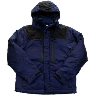 NO BRAND Hooded  Down Jacket -NAVY-