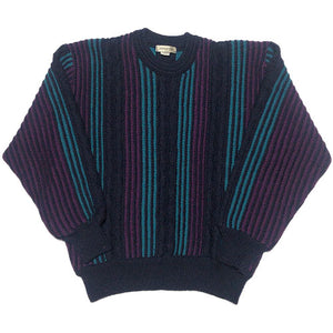 "90s Vintage""Coogi Style""Sweater-PURPLE-"