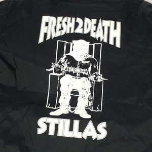 "Stillas ""FRESH 2 DEATH"" Coach Jacket -BLACK-"