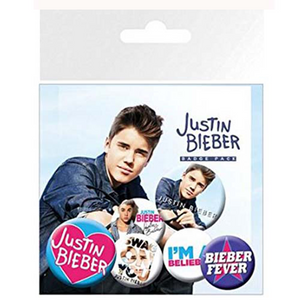 "JUSTIN BIEBER ""Belieber"" BADGE PACK"