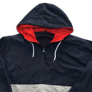 NO BRAND Anorak Jacket -NAVY×RED-