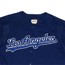 "画像をギャラリービューアに読み込む, Majestic ""Los Angeles Dodgers"" Baseball Jersey-BLUE-"